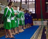 Dynamo(Moscow) vs Sintez (Kazan) of waterpolo — Stock Photo
