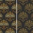 Golden seamless pattern - vector illustration — Stock Vector