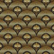 Seamless ornate golden pattern — Stockvectorbeeld