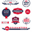 Set of premium & quality labels and emblems — Stock Vector