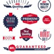 Set of premium & quality labels and emblems — Stock Vector #9369596