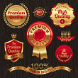Royalty-Free Stock Obraz wektorowy: Set of golden quality labels and emblems