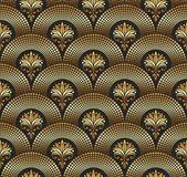 Seamless ornate golden pattern — Stock Vector