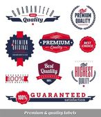 Set of premium & quality labels and emblems — Vecteur