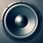 """Burning speaker - """"music style"""" background — Stock Photo"""