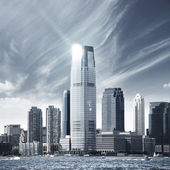 Future city - new york skyline — Foto de Stock