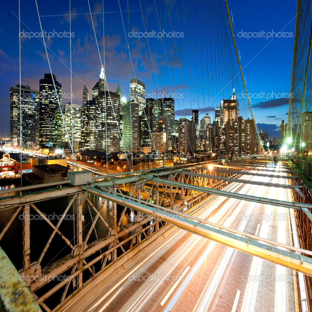 Amazing New York cityscape - taken after sunset — Stock Photo #9045909