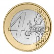Stock Photo: Four euro coin