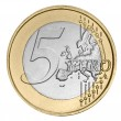 Stock Photo: Five euro coin