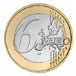 Stock Photo: Six euro coin
