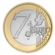 Stock Photo: Seven euro coin