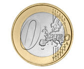 Zero euro coin — Stock Photo