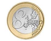 Eight euro coin — Stock Photo