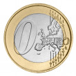 Stock Photo: Zero euro coin