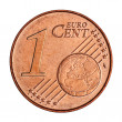 1 euro cent coin — Foto de Stock