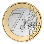 Seven euro coin — Stock Photo