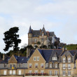 View of town Cancale, famous oyster town in France — Stock Photo