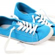 Stock Photo: Blue sneaker on white background