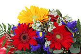 Colorful flower bouquet isolated on white — Stock Photo