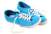 Blue sneaker on a white background — Stock Photo