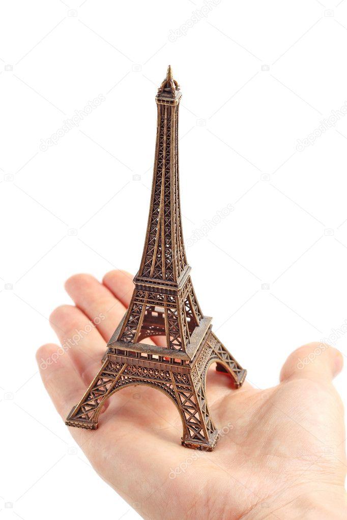 只手握住小埃菲尔铁塔-模型