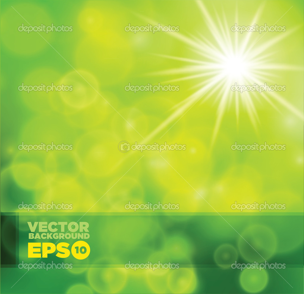 Green shiny background. Vector illustration for your business artwork. — Stock Vector #9343239