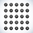 Royalty-Free Stock Imagen vectorial: Vintage Black Icon Set