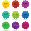 Royalty-Free Stock Vector Image: Colored badges