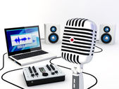 Home Recording Studio Equipment — Stock Photo