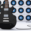 Black guitar — Stock Photo #10411728