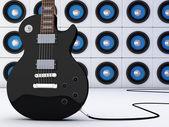 黑色吉他 — 图库照片