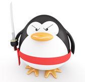 Ninja penguin — Stock Photo