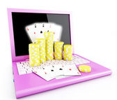 On line poker — Stock Photo