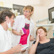 Dentist and assistant — Stock Photo