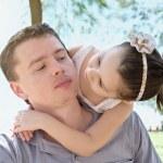 Vater mit Tochter — Stockfoto