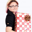 Royalty-Free Stock Photo: Women with christmas gift