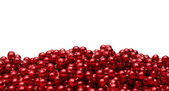Background with red beads — Stock Photo