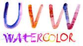 Alphabet. Watercolor — Stock Photo