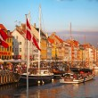 Copenhagen (Nyhavn district) in a sunny summer day — Stock Photo #10574841