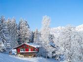 Zimní rekreační dům — Stock fotografie