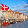 Copenhagen (Nyhavn district) in a sunny summer day — Stock Photo
