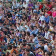 Public on Kecak dance performance — Stock Photo #8400097