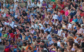 Public on Kecak dance performance — Stock Photo
