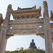 Po Lin Monastery and Giant Buddha - Stock Photo