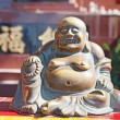 Laughing buddha statue — Stock Photo
