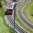 Swiss alpine railway — Stock Photo #9603893