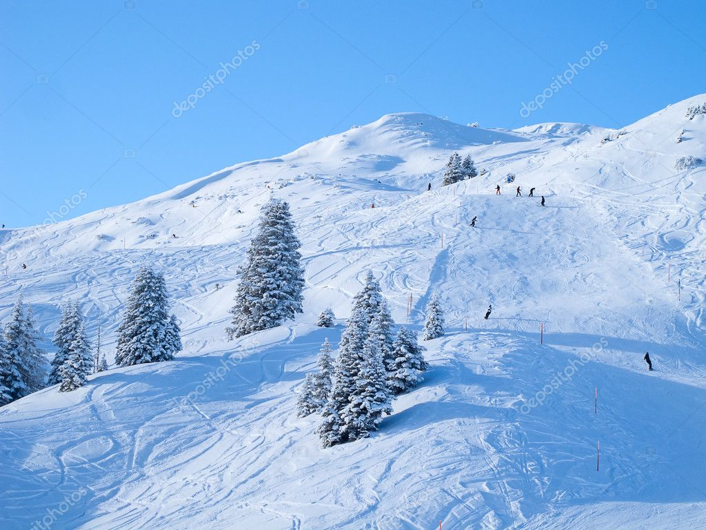 Winter in the swiss alps, Switzerland  Stock Photo #9684973