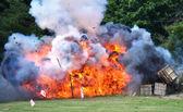 Civil War Re-enactment - explosion — Stock Photo