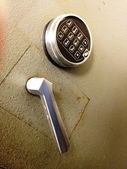 Safe Door and Lock — Stock Photo