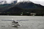 Juneau Floatplane Landing Lower Left Corner — 图库照片